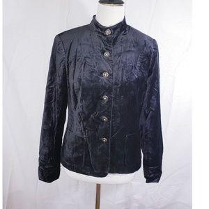 Covington Velvet Feel Black Blazer Size 6